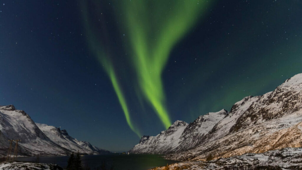 Photo of aurora borealis, also known as northern lights